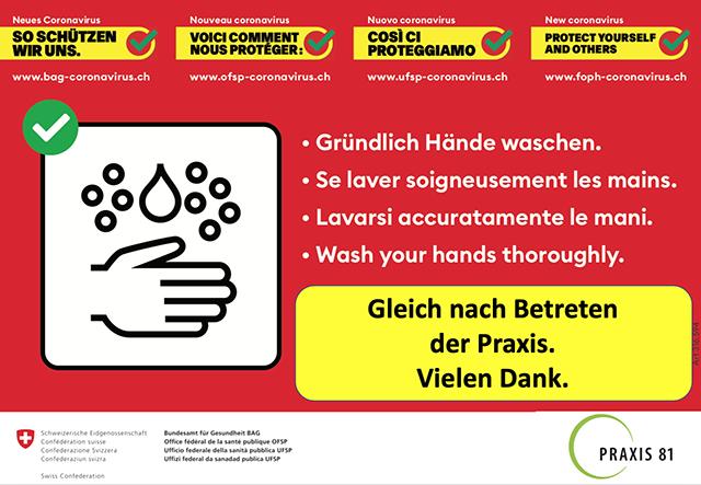 Waschen Sie bitte die Hände